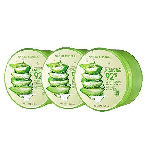 Nature Republic Soothing and Moisture Aloe Vera 92% Soothing Gel 3ea [Imported][Korean - Moisture Aloe