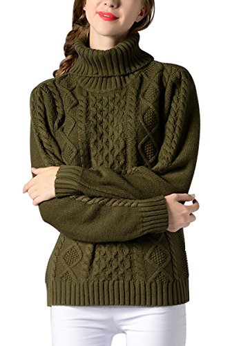 Sophieer Knit Breathable Undershirts Winter Wear Clothes Outerwear for Girls Green S