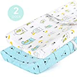 Stretchy Changing Pad Covers-BROLEX 2 Pack Jersey