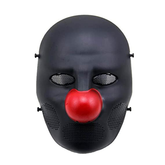 Amazon.com : H World Shopping Airsoft Tactical Full Face Protective Scary Clown Mask f/ Cosplay Costume Halloween (D) : Sports & Outdoors