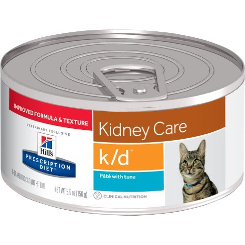 HILL'S Prescription Diet k/d Kidney Care Pate with Tuna Canned Cat Food 12/5.5 oz by HILL'S