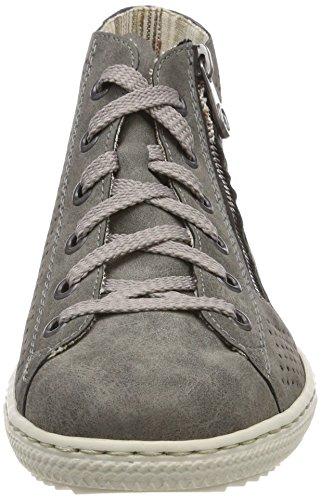 smoke Sneaker Collo schwarz Alto Donna Grigio A L9427 Rieker 7qfW6F1W