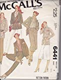 Vintage McCall's 6441 Sewing Pattern Misses Jaccket Skirt & Pants Size 8 Bust 31 1/2