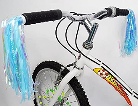 PAIR OF BICYCLE HANDLEBAR STREAMERS  MULTI-COLOR NEW !