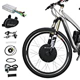 Voilamart 26'' Front Wheel 48V 1000W Electric Bicycle Conversion Kit E-bike Cycling Brushless Hub Motor w/ Intelligent Controller Restricted to 750W for Road Bike