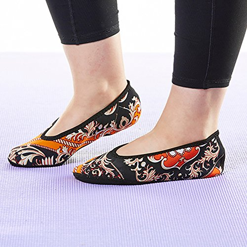 House Slipper Shoes Foldable Best Slippers Flats Socks Baroque Women's Flexible Small amp; Shoes amp; Gold Nufoot Ballet Yoga Indoor Slippers Flats Dance Exercise Travel Shoes Shoes Socks wXzxZI5qR