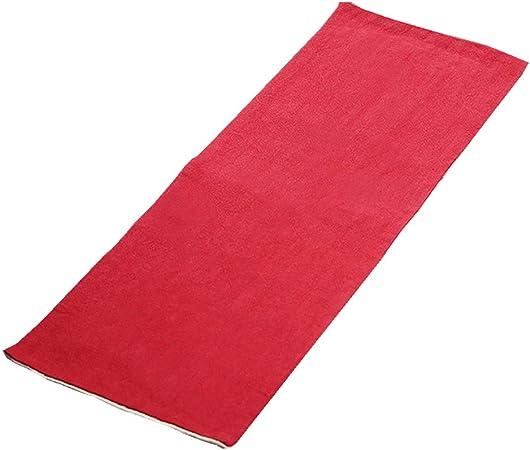 ZAGO Toalla de té Absorbente Toalla del Estilo Chino Can Aislante del Calor algodón y Lino paño Absorbente té Accesorios para la Ceremonia del té (Color : Red, Size : Free Size):