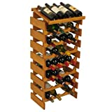 32-Bottles Wine Rack in Medium Oak Finish