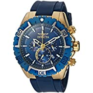 Men's 'Aviator' Quartz Stainless Steel and Silicone Casual Watch, Color:Blue (Model: 22525)