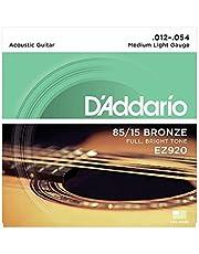 Daddario Ez920 Akustik Gitar Tel Seti, 85/15 Bronze, Medium Light