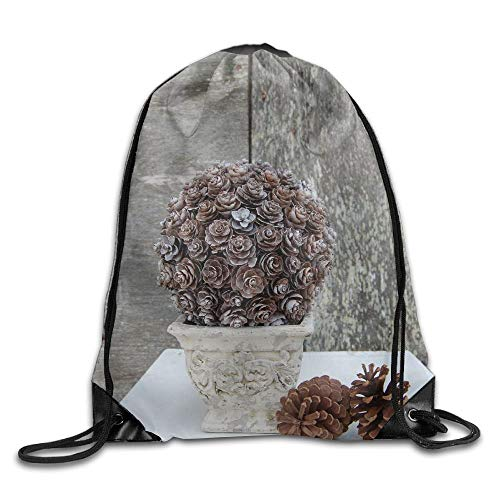 (Beatybag Drawstring Bags Bulk Pinecone Topiary Drawstring Backpack Bag Shoulder Bags Gym Bag For Adult)