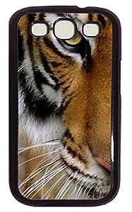 Samsung Galaxy S3 I9300 Case,Samsung Galaxy S3 I9300 Cases - Tiger Custom Design Samsung Galaxy S3 I9300 Case Cover - Polycarbonate¨CWhite