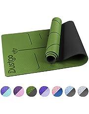 Dustgo Esterilla Yoga Colchoneta de Yoga Antideslizante con Material ecológico TPE con líneas corporales Yoga Mat diseñado para Entrenamiento y Entrenamiento físico