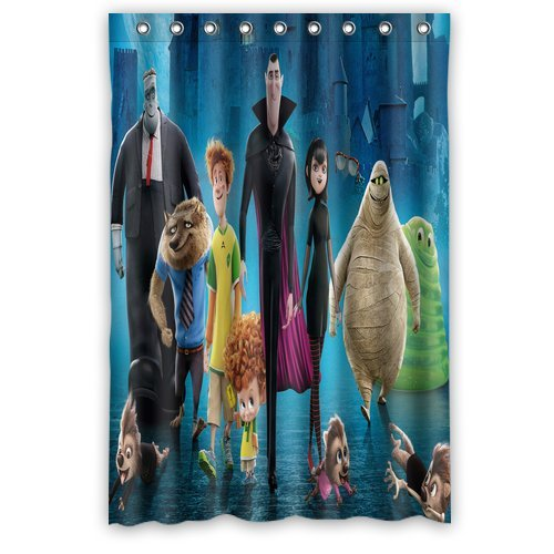 Personalized Custom Fashion Movie Hotel Transylvania Shower Curtain Bathroom Decoration Mildew Waterproof Polyester Fabric Shower Curtains 48