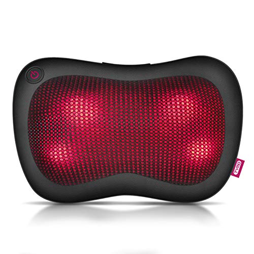 Neck Massager  - 3D Shiatsu Pillow Massager Infrared Heat, Versatile Deep Kneading Massage for Ultimate Stress Pain Relief, Auto Reverse/Shut-Off, Use at Home, Office, Car, Perfect Gift for Parent