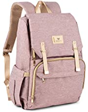 BabeeHive Spacious Multifunction Diaper Bag - Waterproof with Insulated Pockets, Durable Backpacks with Stroller Straps - Comfortable, Stylish, Unisex Baby Organizer Backpack Bags for Care Products