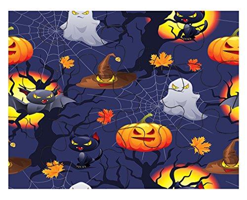Halloween Seemless Pattern #1 Jigsaw Puzzle Print 30 Pieces (Halloween Jigsaw Puzzles To Print)