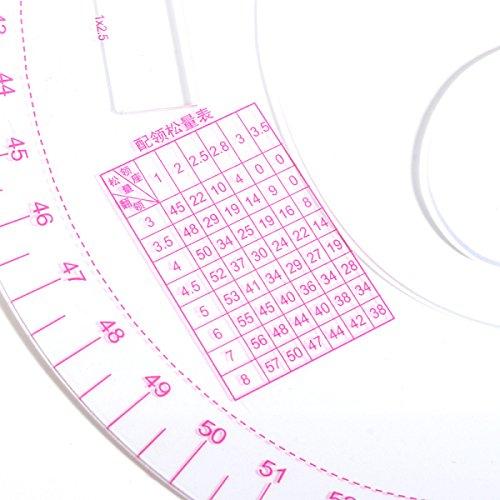 GOZAR R/ègle De Couture M/étrique De R/ègle De R/ègle De R/ègle De R/ègle De V/êtements De Plastique De 52Cm Pour La Couturi/ère De Couture
