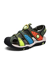 Puxel Leather Sports Toddler Kids Sandles Sandals for Boys