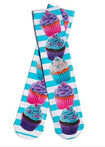Girls Cupcake Knee High Socks Size (Cup Cake Costumes Ideas)