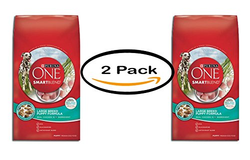 PACK OF 2 – Purina ONE SmartBlend Large Breed Puppy Formula Puppy Premium Dog Food 16.5 lb. Bag