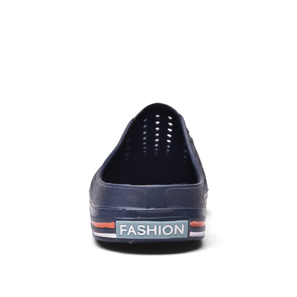 und Herren Schuhes 2018, Damen- und  Herrenmode Pantoletten Flat Heel Slip on Slipper Blau 323910