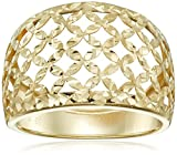 14k Yellow Gold Italian Filigree Dome Ring, Size 7