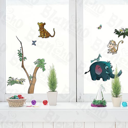 Animal Friends-5 - Wall Decals Stickers Appliques Home Decor Blancho Bedding 5937939