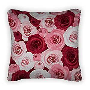 Gear New Pattern With Red And Pink Roses Throw Pillow, Poplin, 14x14, GN166