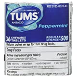 Tums Chewable Tablets Regular Strength Peppermint - 12 Ct.