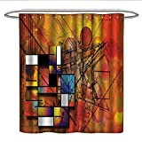 Best All Around Fishing Lines - Anniutwo Modern Decorlong Shower curtainGeometric Unusual Figures Review