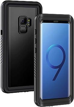 Lanhiem Funda Impermeable Samsung S9, Carcasa Resistente Al Agua IP68 Certificado [Protección de 360 Grados], Carcasa para Samsung Galaxy S9 con Protector de Pantalla Incorporado, Negro: Amazon.es: Electrónica