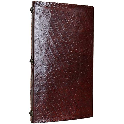 Seven Stone Leather Journal Handmade Notebook Unlined Blank 240 Pages 13 1/2 X 22 inches by  (Image #3)