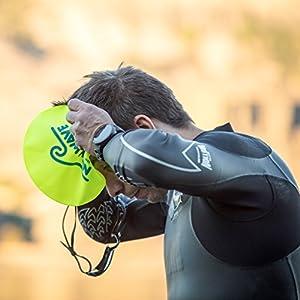 New Wave Swim Buoy Silicone Swim Cap (Fluo)