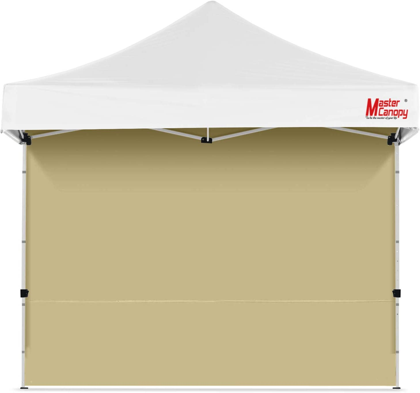 Removable Zipper End Eurmax Instant SunWall for 10x10 Pop up Canopy Beige 1 Pack Sidewall Only Outdoor Instant Canopies