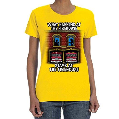 Women's WHAT HAPPENS...FIREHOUSE Daisy T-shirt (XX Large)