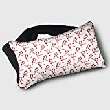 Voyage Travel Pillow Eye Mask 2 in 1 Portable Neck Support Scarf Candy Cane Ergonomic Naps Rest Pillows Sleeper Versatile for Airplanes Car Train Bus Home Office
