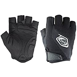 Seibertron Men's/Women's Half Finger/Fingerless Cycling MTB Gloves Road Racing Bicycle Gloves Biking Gloves Gel Pad Riding Gloves Black S