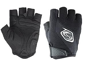 Seibertron Men's/Women's Half Finger/Fingerless Cycling MTB Gloves Road Racing Bicycle Gloves Biking Gloves Gel Pad Riding Gloves Black XS