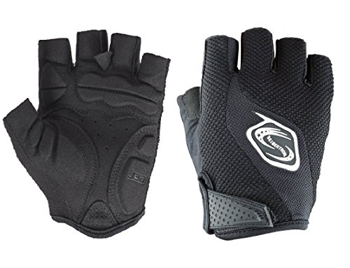 Seibertron Men's/Women's Half Finger/Fingerless Cycling MTB Gloves Road Racing Bicycle Gloves Biking Gloves Gel Pad Riding Gloves Black (Sonic Womens Glove)