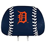 ProMark Detroit Tigers Printed Full Color 2-Pack Head Rest Covers Elastic Auto Baseball
