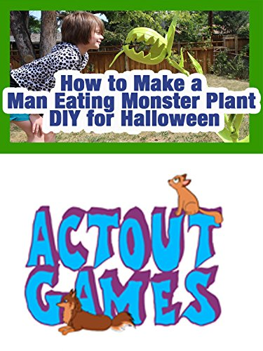 How to Make a Man Eating Monster Plant DIY for Halloween -