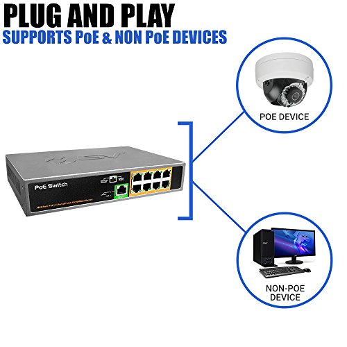 BV-Tech 9 Port PoE Switch (8 PoE Ports | 1 Uplink Port) – 120W – 802.3af by BV-Tech (Image #4)