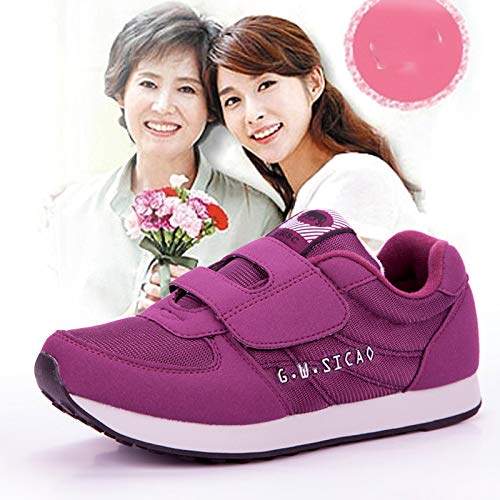 Walking Elderly Mother Four Shoes Super sho Aged purple Shoes Middle casual Sports Sneakers vfAqCAx