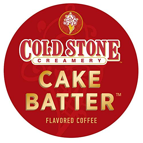 Cold Stone Creamery Single Serve Coffee in Recyclable Cups for all K Cup Brewers, including the Keurig 2.0 Brewer (Cake Batter, 24) (Best Cake Batter Ice Cream)