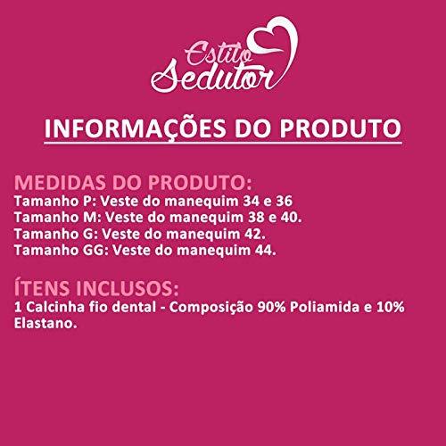 4198294b0 Calcinha Fio Dental Preta Transparente de Tule e Microfibra - VF17:  Amazon.com.br: Amazon Moda