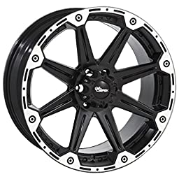 Dick Cepek Torque Flat Black Wheel with Machined Accents (16x8\