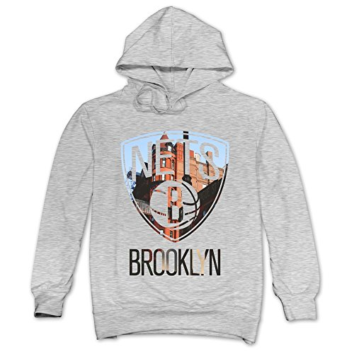 TIKE Men's Brooklyn Nets City Height Hoodies Sweater Color Ash Size - Memorial City Is What A