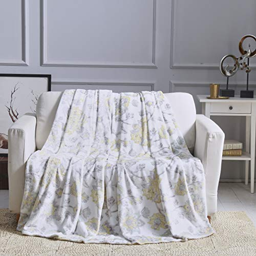 All American Collection New Super Soft Printed Throw Blanket (King Size, Yellow) (Indian Pattern)