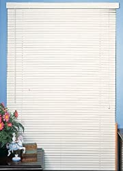 "Achim Imports White Vinyl 1"" Mini Blinds - 30"" Wide x 72"" Long"